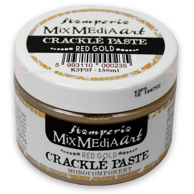 Crackle paste oro rojo