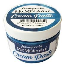 cream paste metallic blue