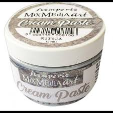 cream paste silver metallic