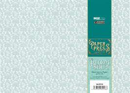Paper press Bloomsury blue